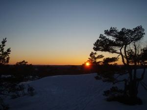 Solnedgang fra Trotto.Foto: Anita Breivold