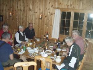God middag er en viktig del av turen:)