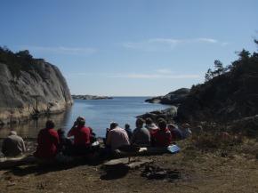 Justøya, på utsida, søndag 16.okt.