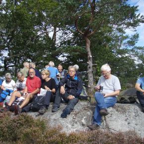 Justøya, på innsida